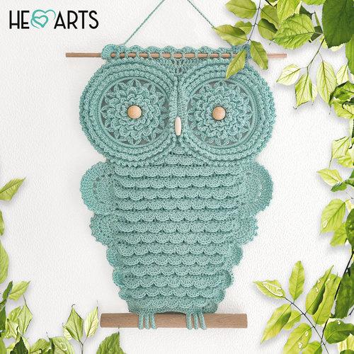 Hearts Mandala Uil Haakpakket Cold Green