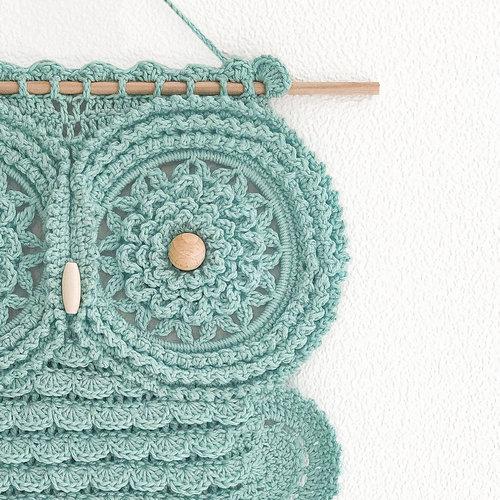 Hearts Mandala Uil Haakpakket Cotton Candy