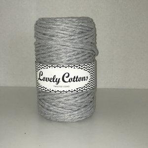 Sale! Lovely Cottons 3 mm single twist grijs