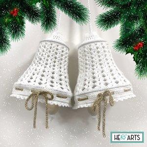 Hearts Kerstbellen Haakpakket White