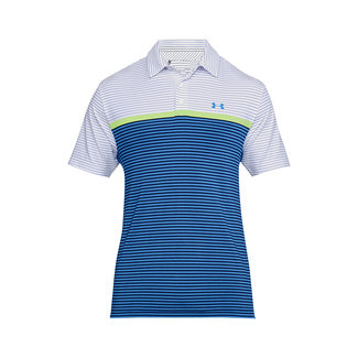 Under Armour Playoff Polo Wit - Blauw
