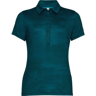Under Armour UA HG ZINGER SS NIEUWE POLO TECHNO TEAL VROUWEN