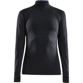 Craft Fuseknit Comfort Zip W Thermoshirt Zwart
