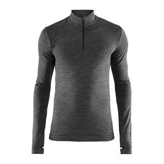 Craft Fuseknit Comfort Zipper M Thermoshirt Black / gray