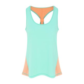 OOSC Pastel Mint Green Women's Gym Vest