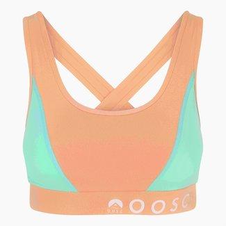 OOSC Pastel Peach Orange Medium Support Crossback Sports Bra