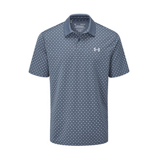 Under Armour UA Performance Printed Polo-Mineral Blue / Isotope Blue / Isotope Blue
