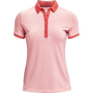 Under Armour UA Zinger SS Novelty Polo Pink / Red