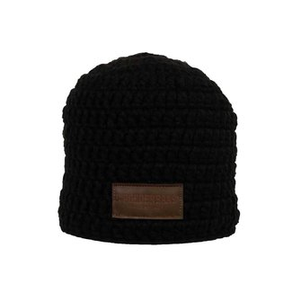 Poederbaas Crocheted hat black without a ball
