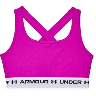 Under Armour UA Crossback Mid Bra-Meteor Roze