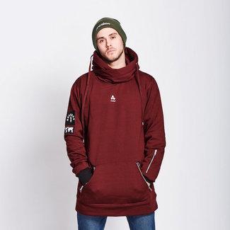 Oneskee Waterproof mens hoodie Burgundy
