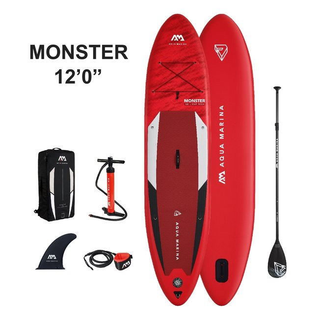 Aqua Marina Monster inflatable SUP board 12'0 Red 2021
