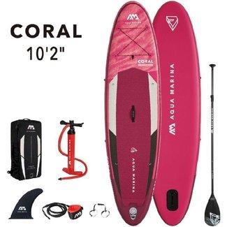 Aqua Marina Coral opblaasbaar SUP board 10'2 Roze