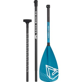 Aqua Marina Carbon Guide SUP Paddle Blue / Black