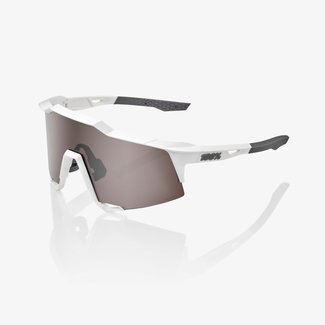 100% 100% SPEEDCRAFT® Matte White HiPER® Silver Mirror Lens + Clear Lens Included