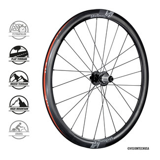 Vision Vision TC40 DB Clincher Tubeless Ready Wheelset