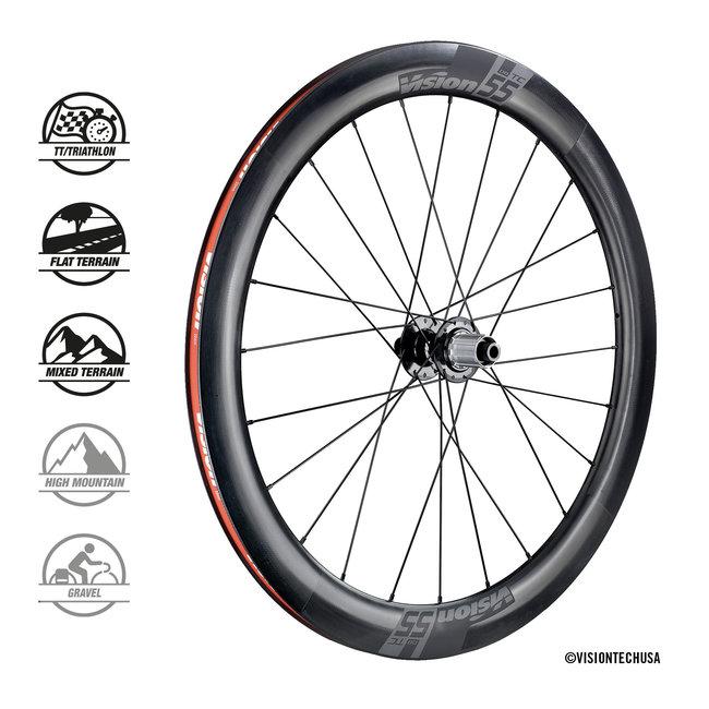 Vision TC55 DB Clincher Tubeless Ready Wheelset