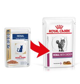 Royal Canin Royal Canin Vdiet Renal Feline Poulet 12x85gr (pouch)