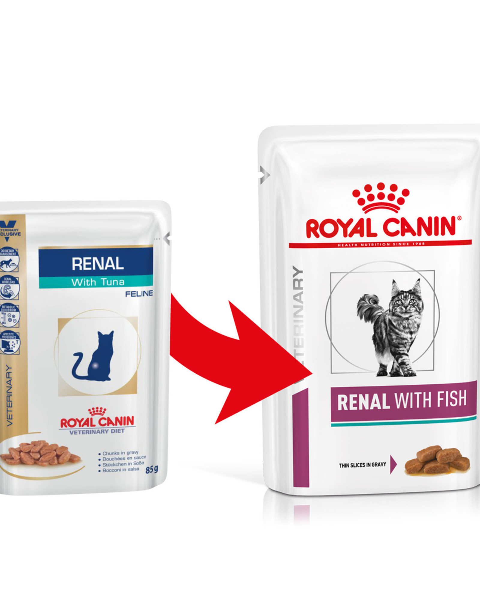 Royal Canin Royal Canin Vdiet Renal Feline Tuna 12x85gr (pouch)