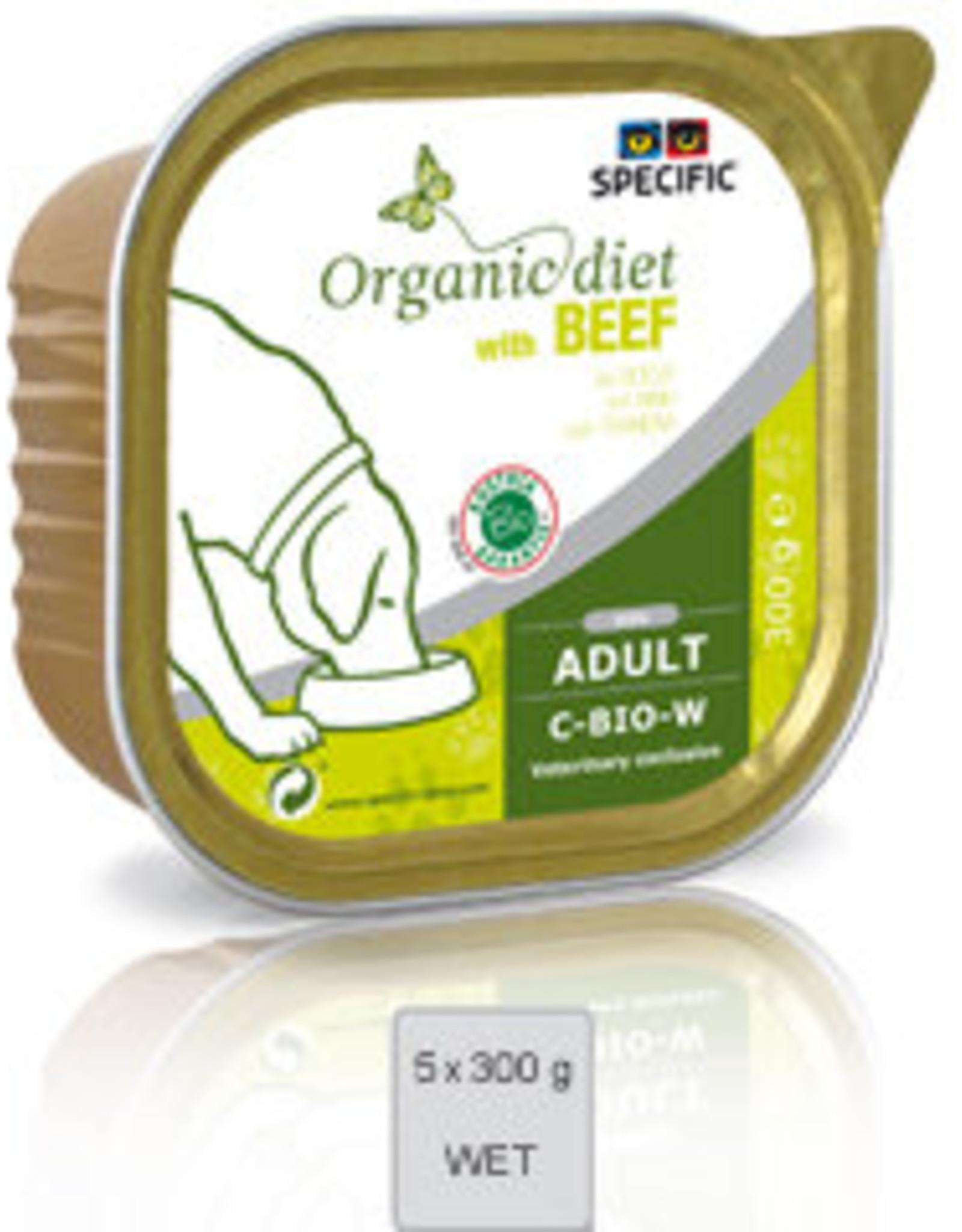 Specific Specific C-bio-w Organic Beef 5x300gr