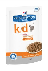 Hill's Hill's Prescription Diet K/d Chat (poulet) 12x85gr