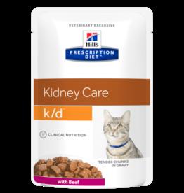 Hill's Hill's Prescription Diet K/d Cat(beef) 12x85gr