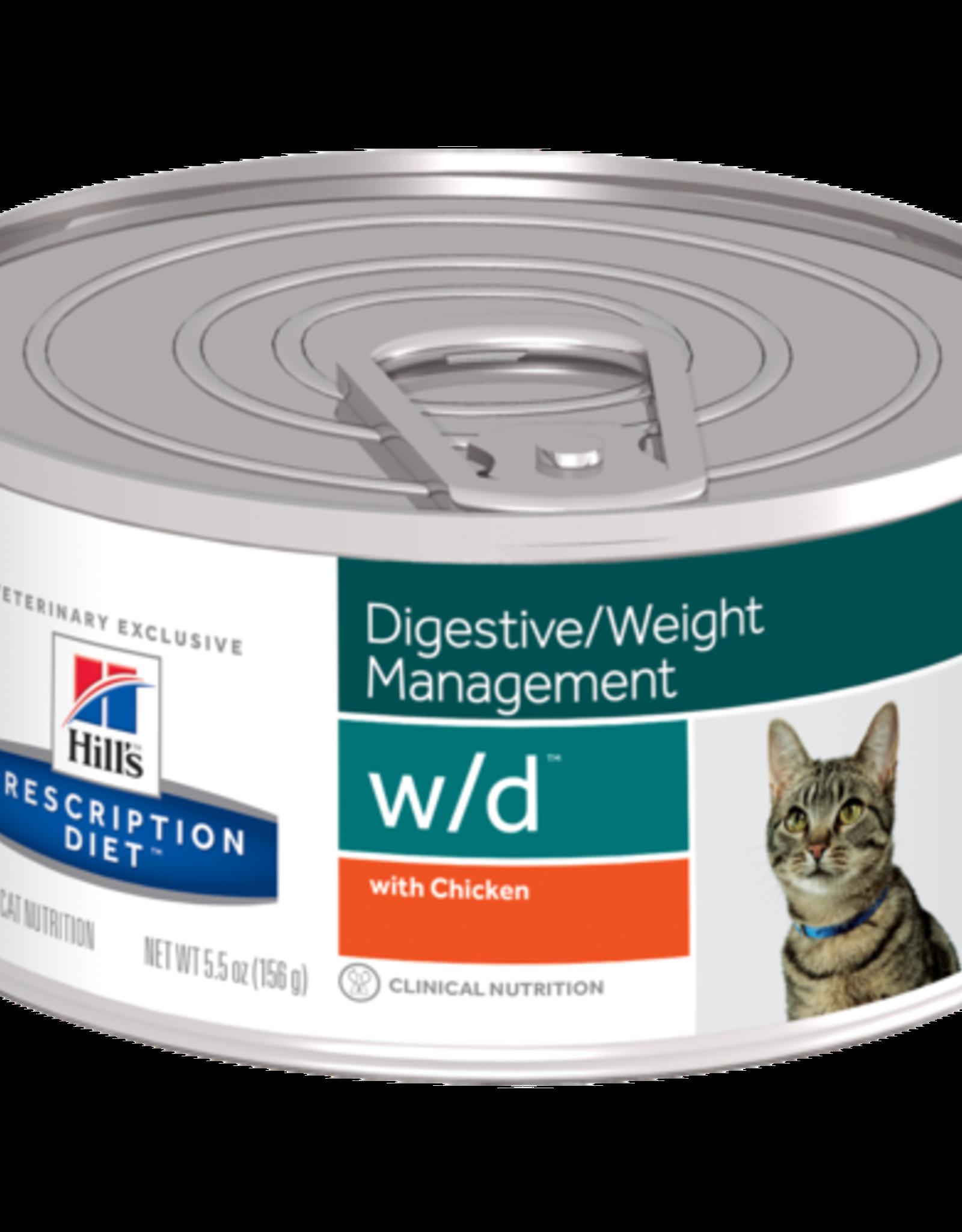 Hill's Hill's Prescription Diet W/d Cat 24x156gr