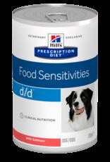 Hill's Hill's Prescription Diet D/d Chien(saumon) 12x370gr