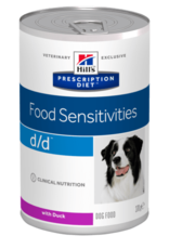 Hill's Hill's Prescription Diet D/d Chien (canard) 12x370gr