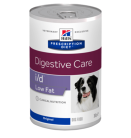 Hill's Hill's Prescription Diet I/d Low Fat Chien 12x360gr