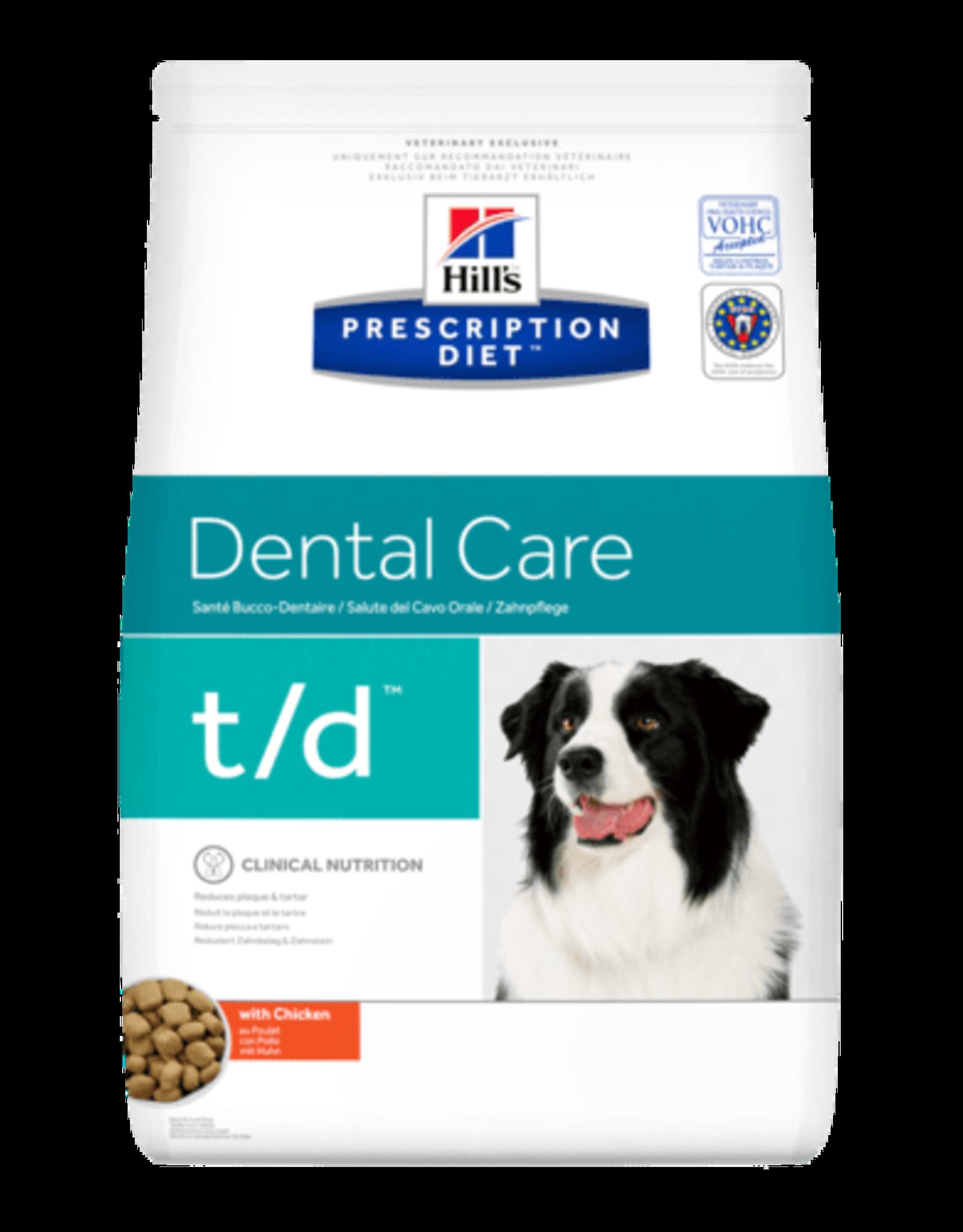 Hill's Hill's Prescription Diet T/d Hond 3kg