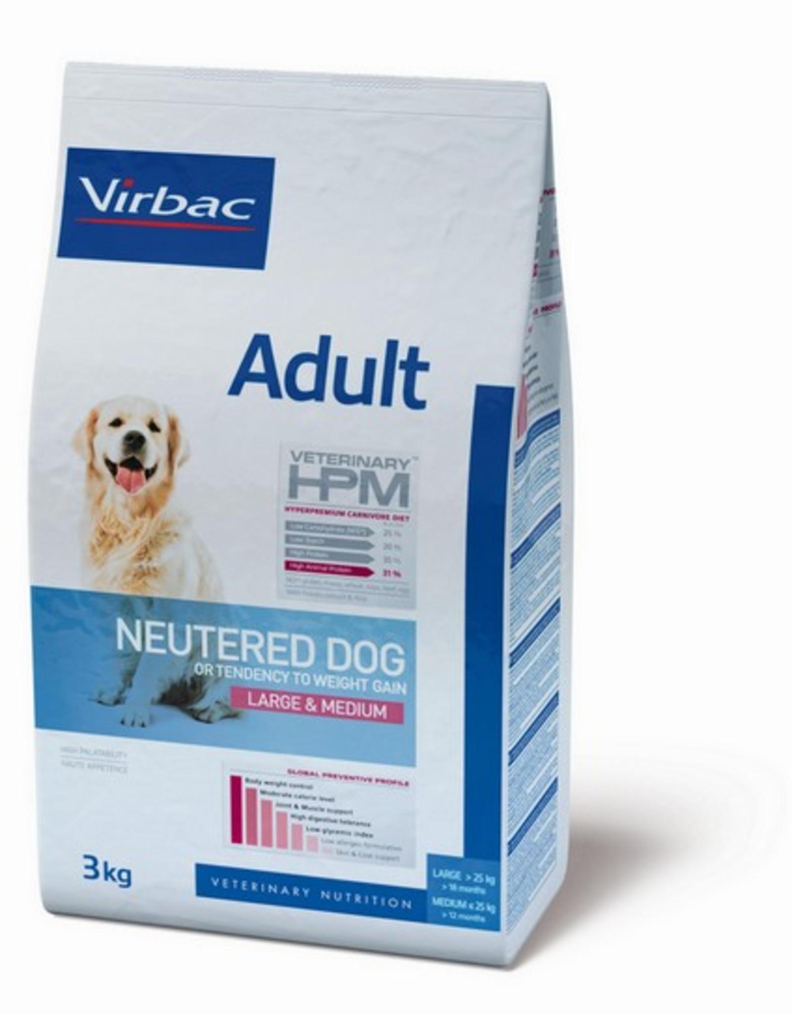 Virbac Virbac Hpm Chien Neutered Adult Large/medium Breed 3kg