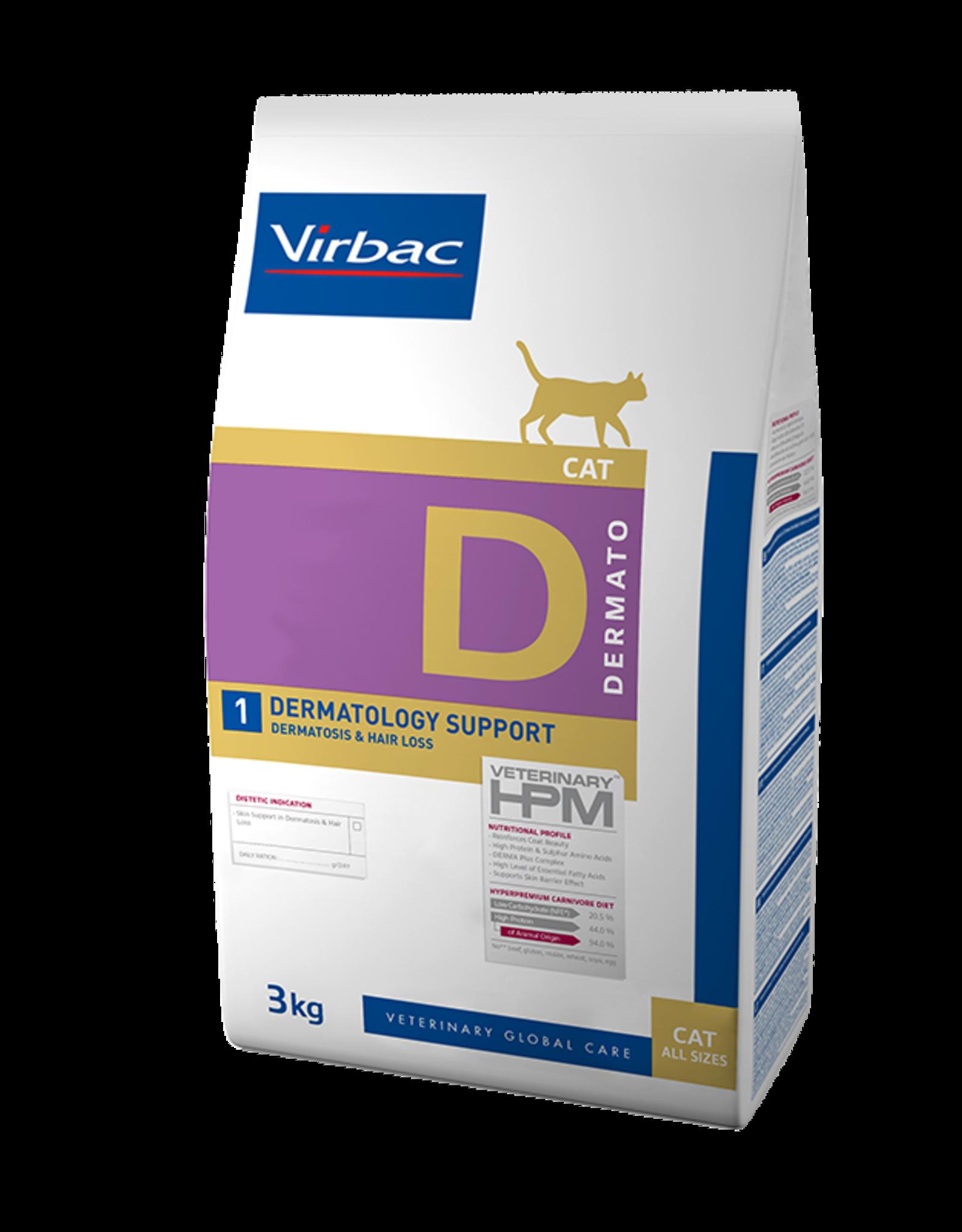 Virbac Virbac Hpm Chat Dermatology Support D1 3kg