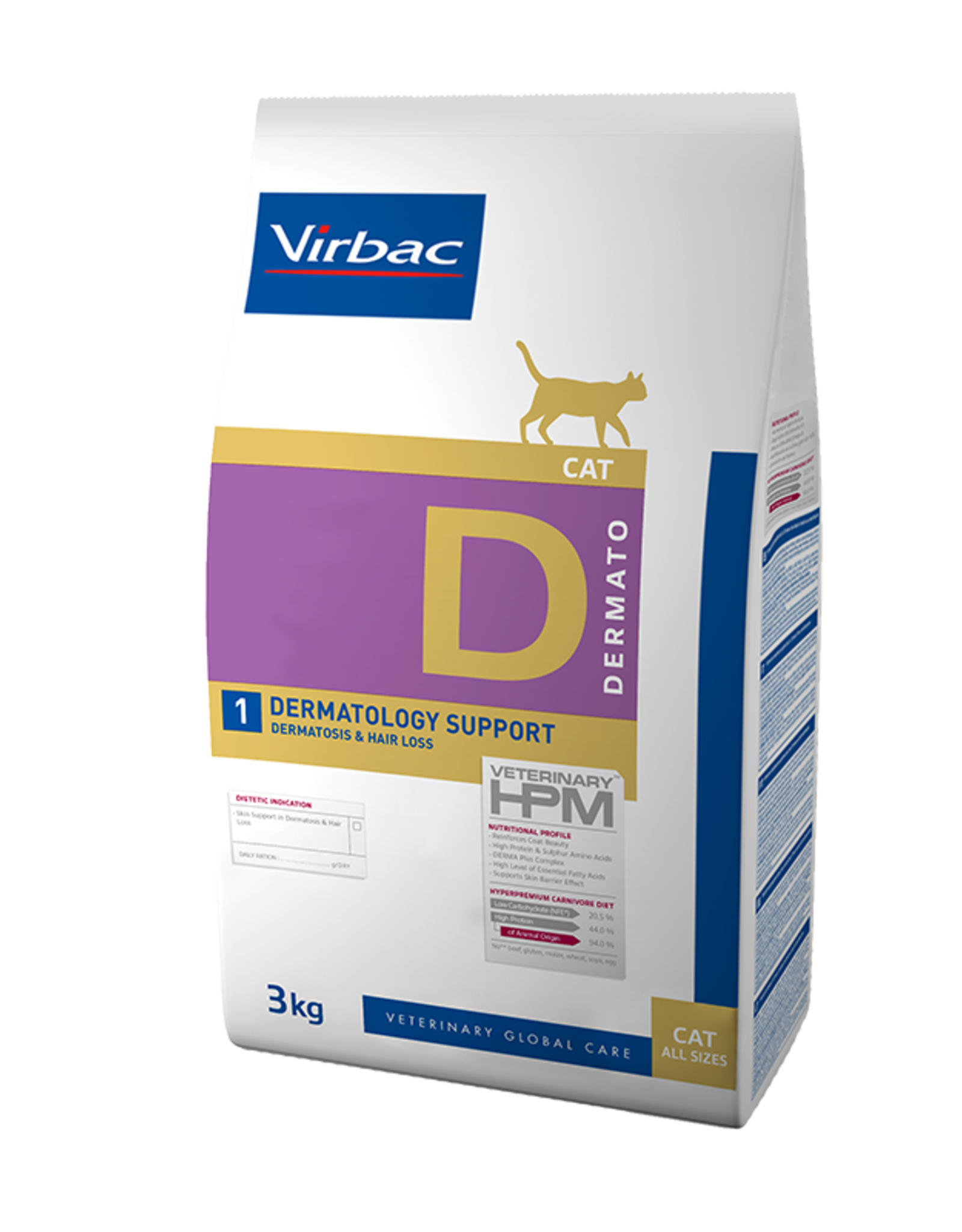 Virbac Virbac Hpm Kat Dermatology Support D1 3kg