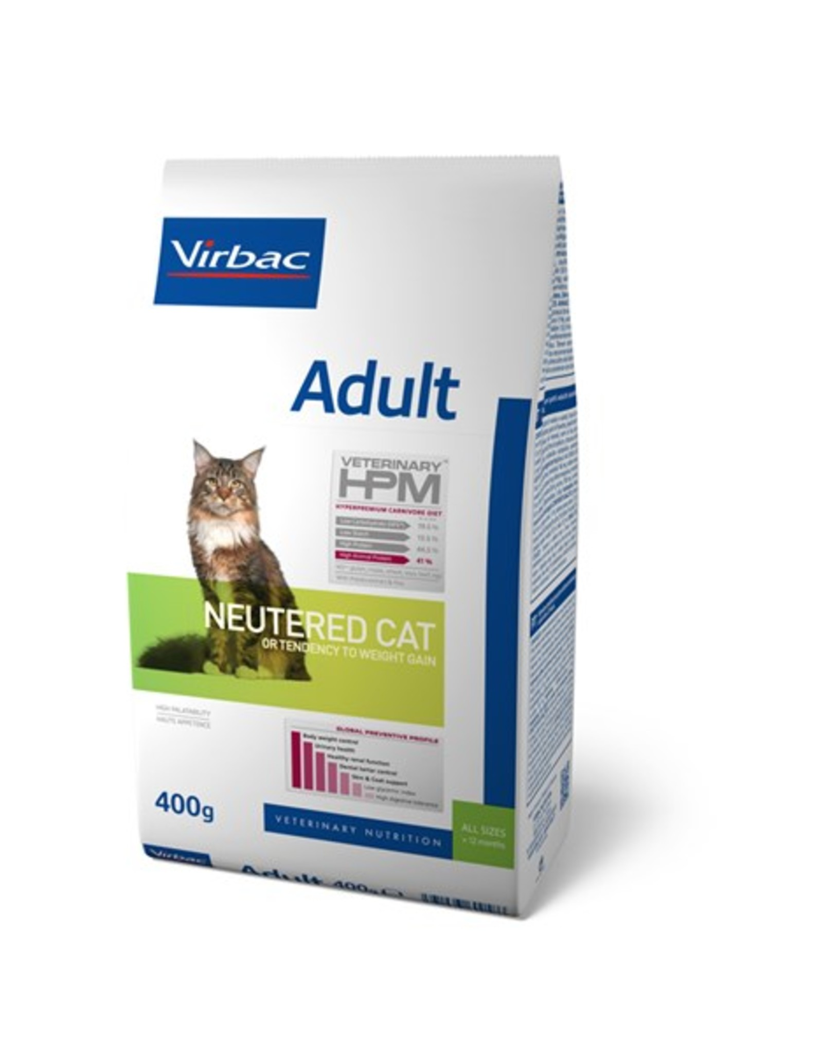 Virbac Virbac Hpm Katze Neutered Adult 0,4kg