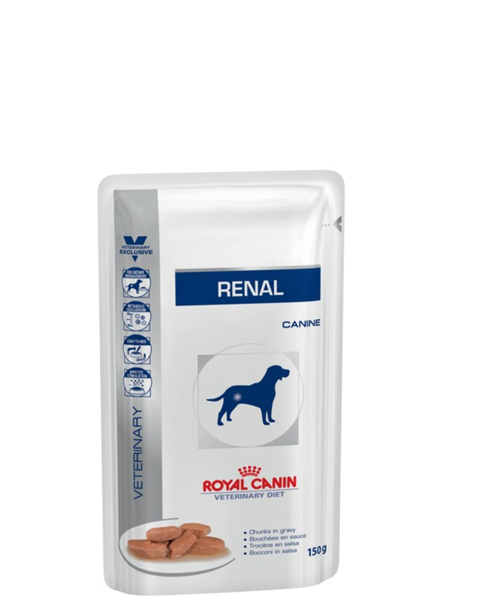 Royal Canin Vdiet Canine Renal Cig Pouch 10x150g