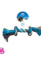 Jouer Rope Dog Cotton Bleu/Gris 35cm