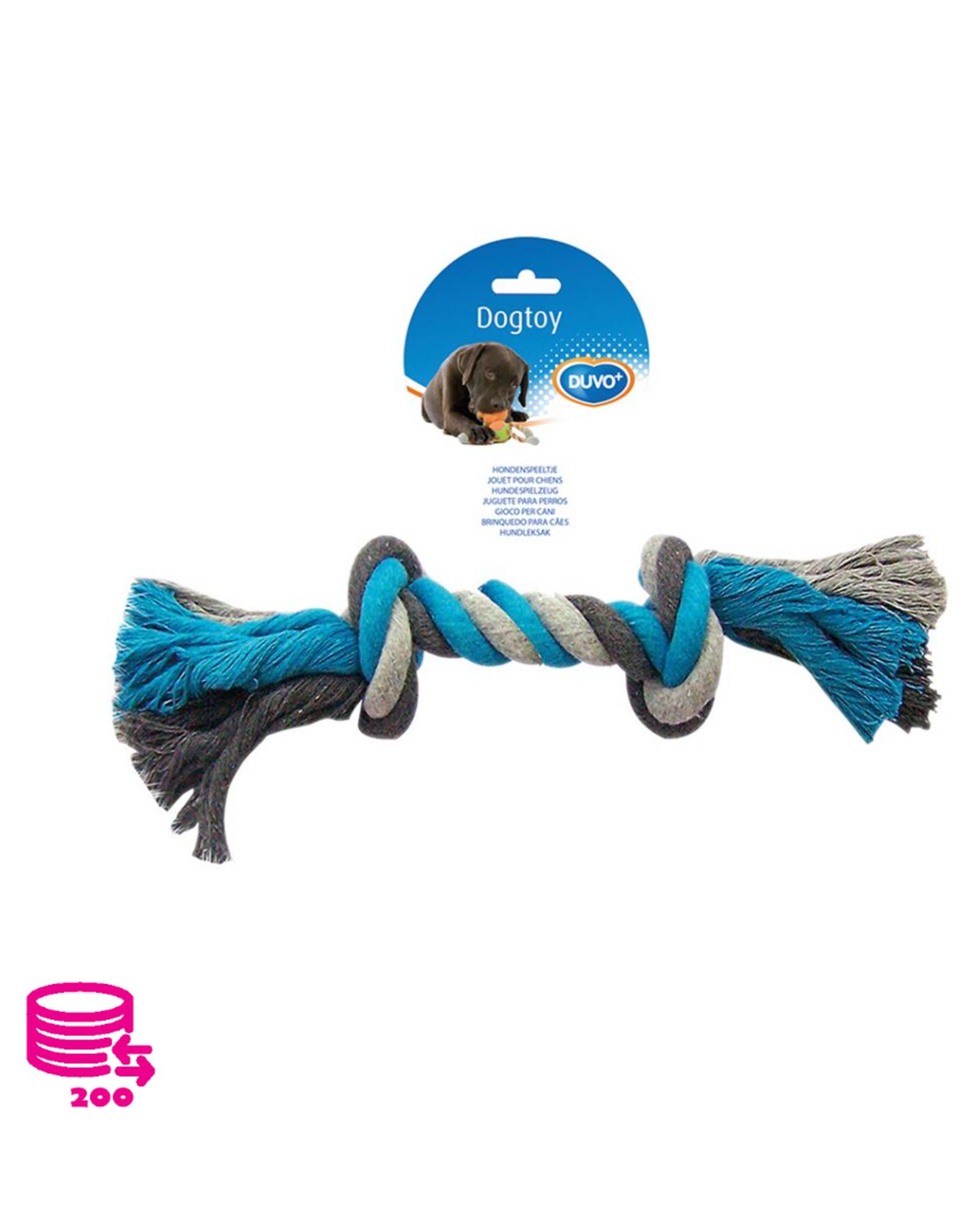 Duvo+ Jouer Rope Dog Cotton Bleu/Gris 35cm