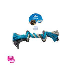 Duvo+ Play Rope Dog Cotton Blue/Grey 35cm