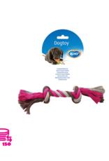 Duvo+ Jouer Rope Dog Cotton Rose/Gris 26cm