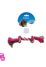 Duvo+ Speeltouw Hond katoen Roze/Grijs 26cm