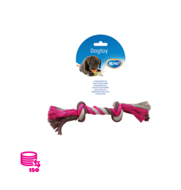 Spielseil Hund Baumwolle Rose/Grau 26cm