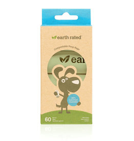 Earth Rated Earth Rated 60 Compostable Poopbags Geurloos