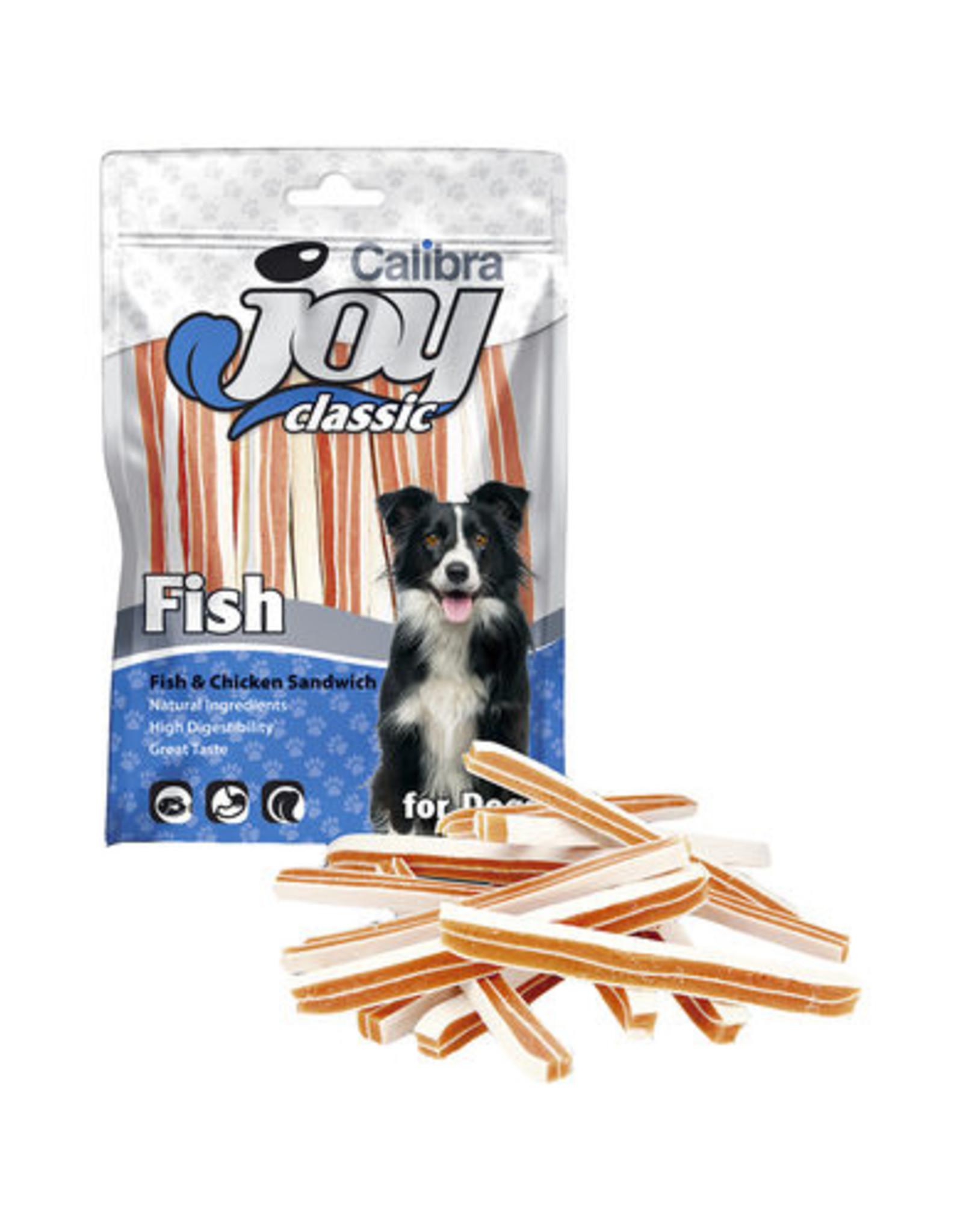 Calibra CALIBRA JOY CANINE CLASSIC SANDWICH FISH/CHICKEN 80G