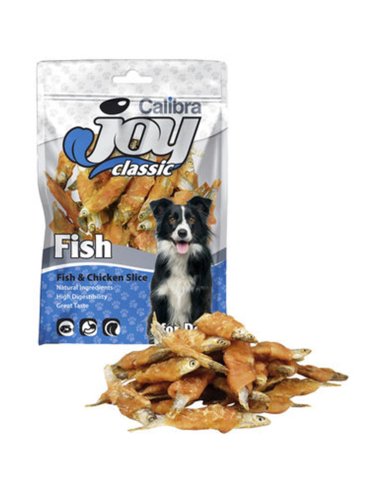 Calibra CALIBRA JOY CANINE CLASSIC SLICE FISH/CHICKEN 80G