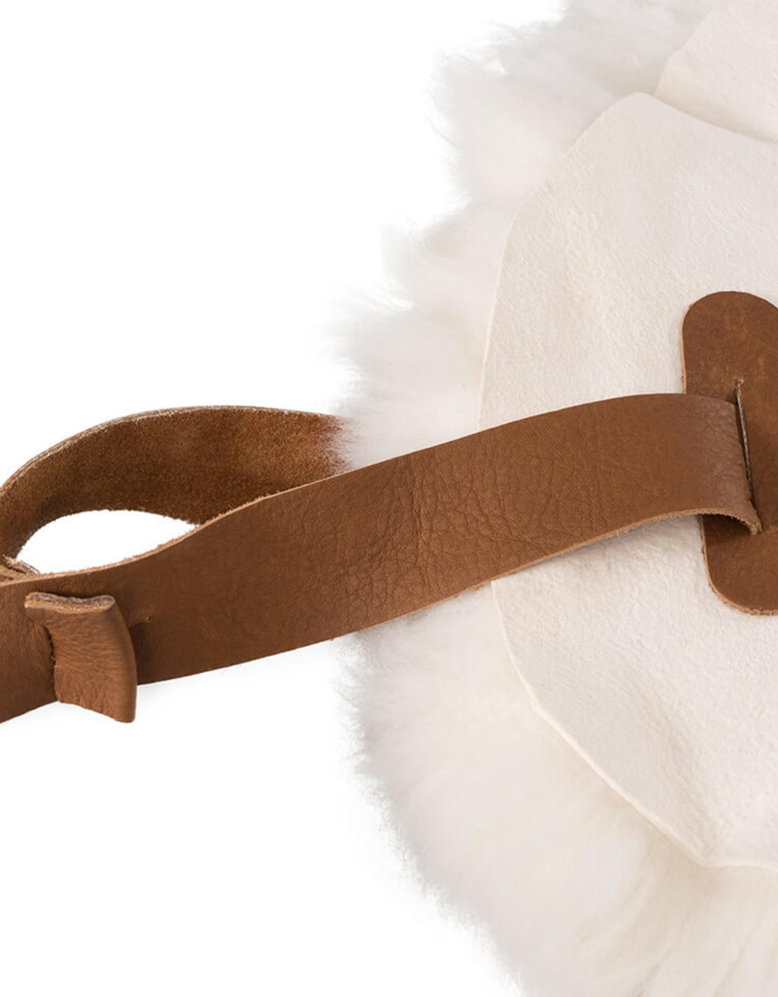 Weltevree Weltevree Sheepscoat / Schapenvacht met Lederen Lus Wit