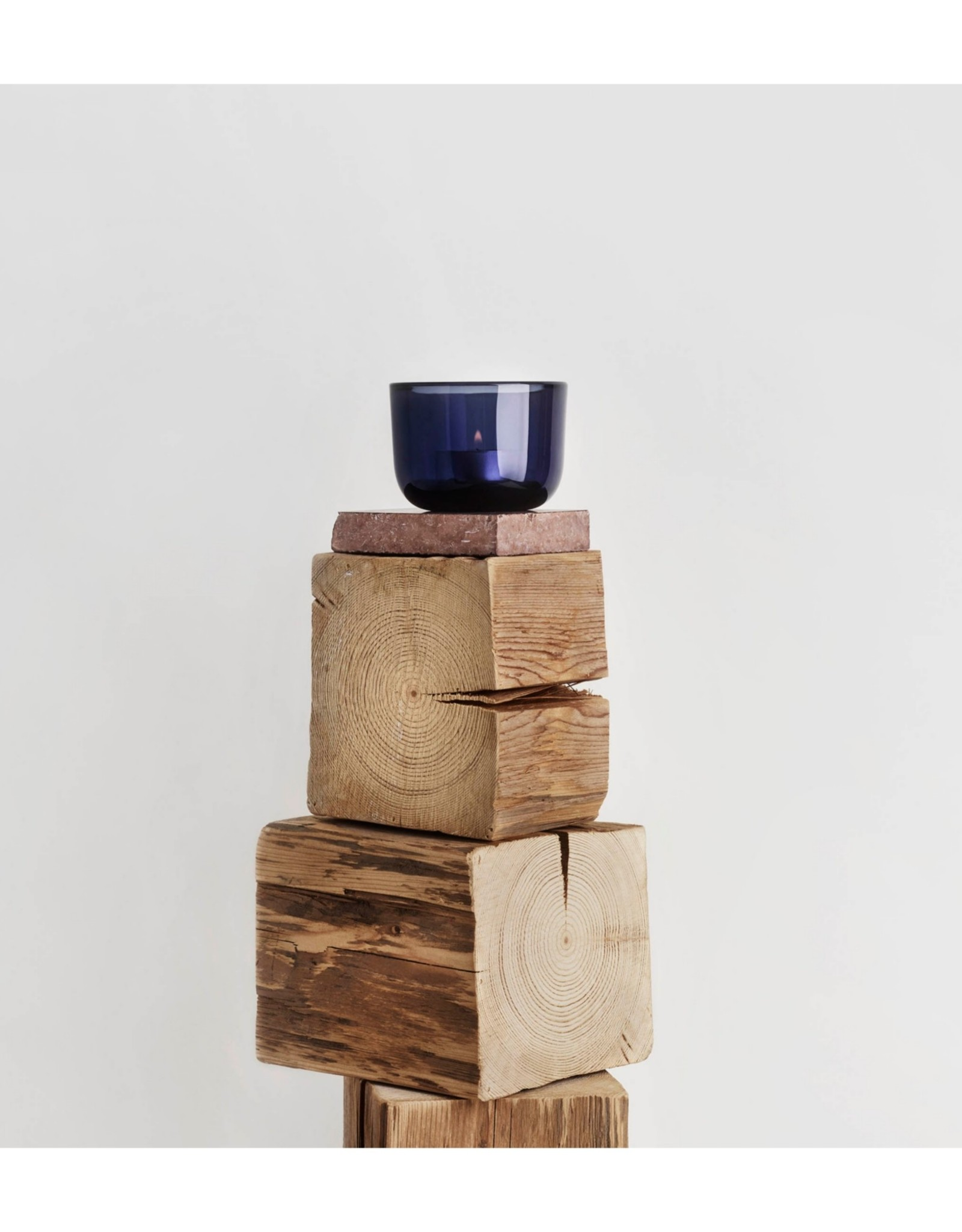 Iittala Iittala Valkea Waxinelichthouder / Sfeerlicht 60mm Regenblauw