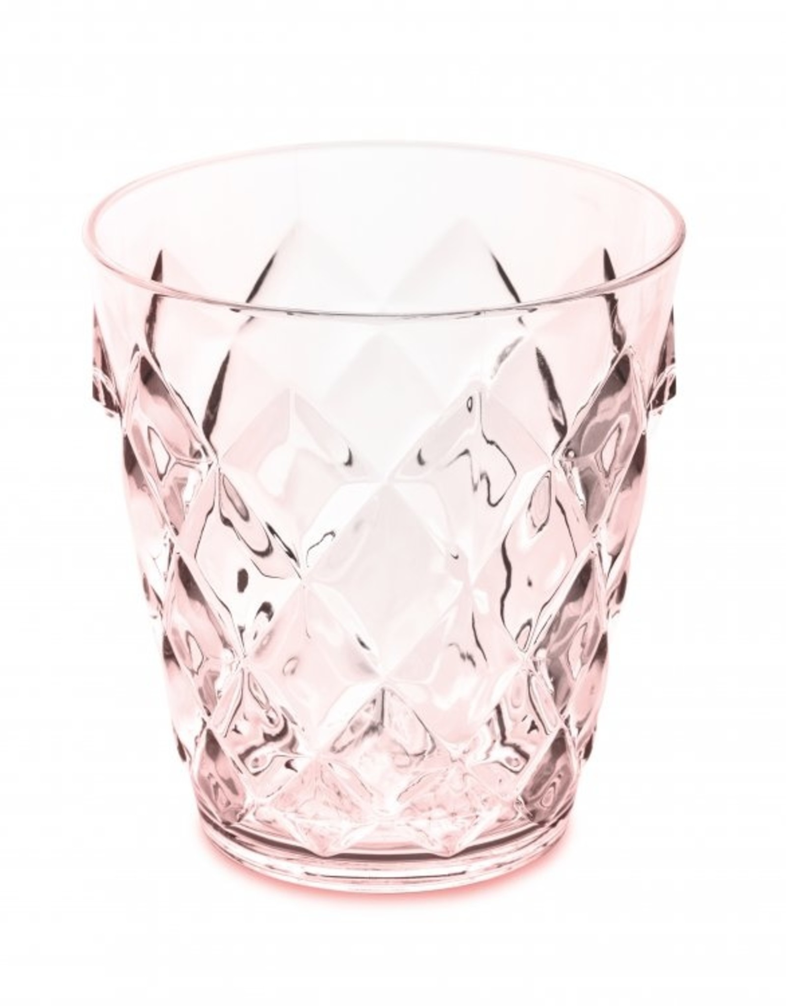 Koziol Koziol - Crystal S - Drinkglas - 250ml - transparant roze - set van 8