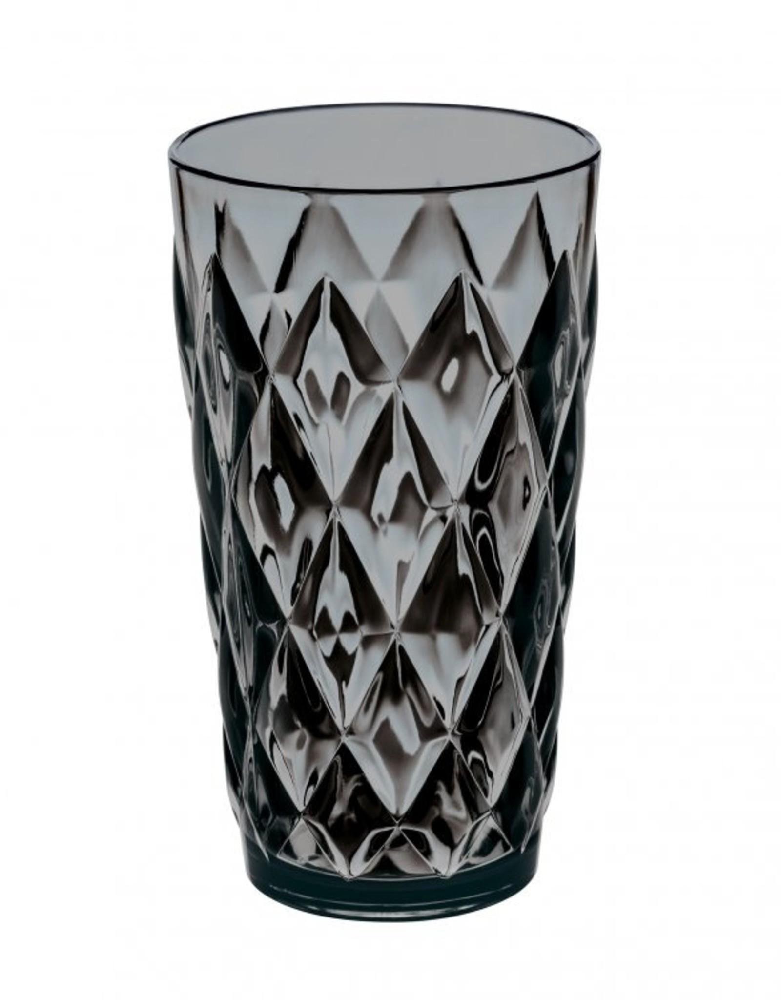 Koziol Koziol - Crystal L - Drinkglas - 450ml - transparant grijs - set van 6