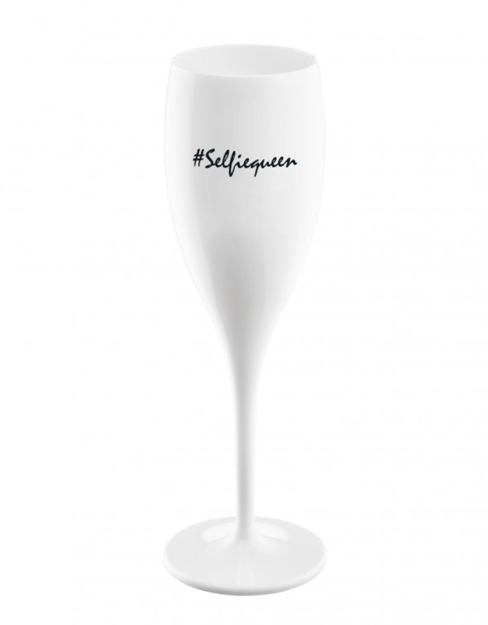 Koziol Koziol Champagneglas - Cheers No.1 Selfiequeen - 100 ml - Cotton white - Set van 6
